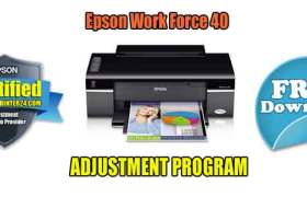 Epson Work Force 40 Adjustment Program
