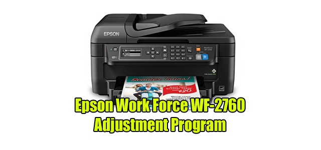 Epson Work Force WF-2760 Adjustment Program