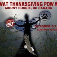 Event: Lil'wat Thanksgiving PowWow, Oct 5-7