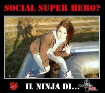 social super hero ninja