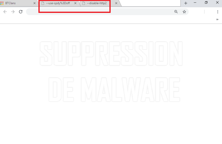 --use-spdy%3Doff and --disable-http2 virus