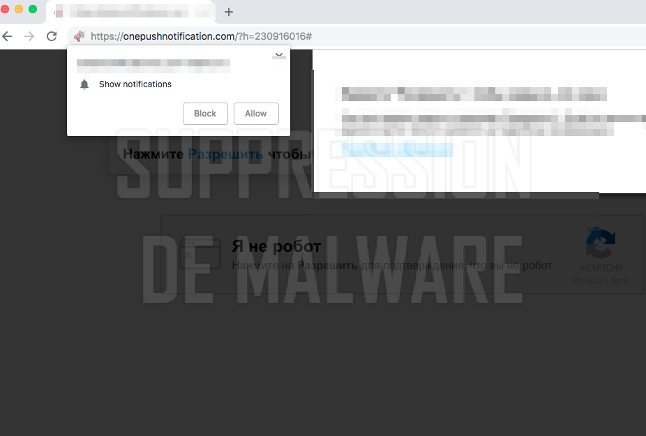 Onepushnotification.com virus