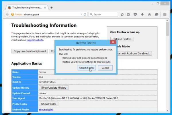 Réinitialiser Mozilla Firefox 2