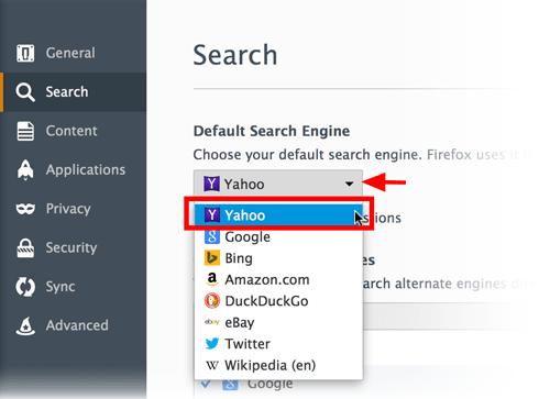 moteur de recherche mozilla