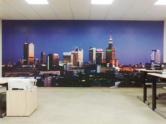 production of photo wallpapers for companies