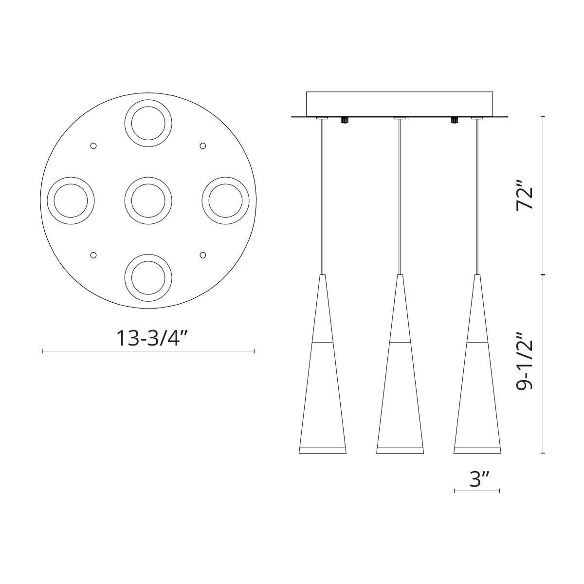 Five Led Lamp Pendant Ch Led