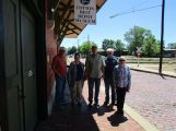 In front of the Old depot museum which housed a train collection and items seen if depots years ago.
