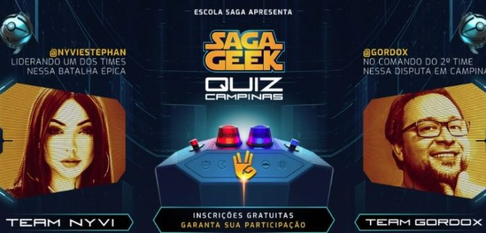 SAGA promove competição de conhecimento geek com a participação de Gordox e Nyvi Estephan 1