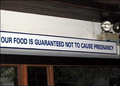Erros de tradução no restaurante