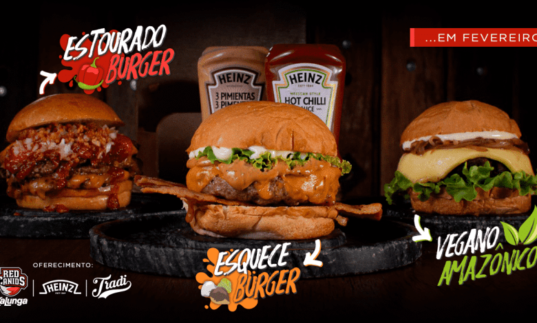 Três sanduíches artesanais criados pela RED Canids Kalunga 1