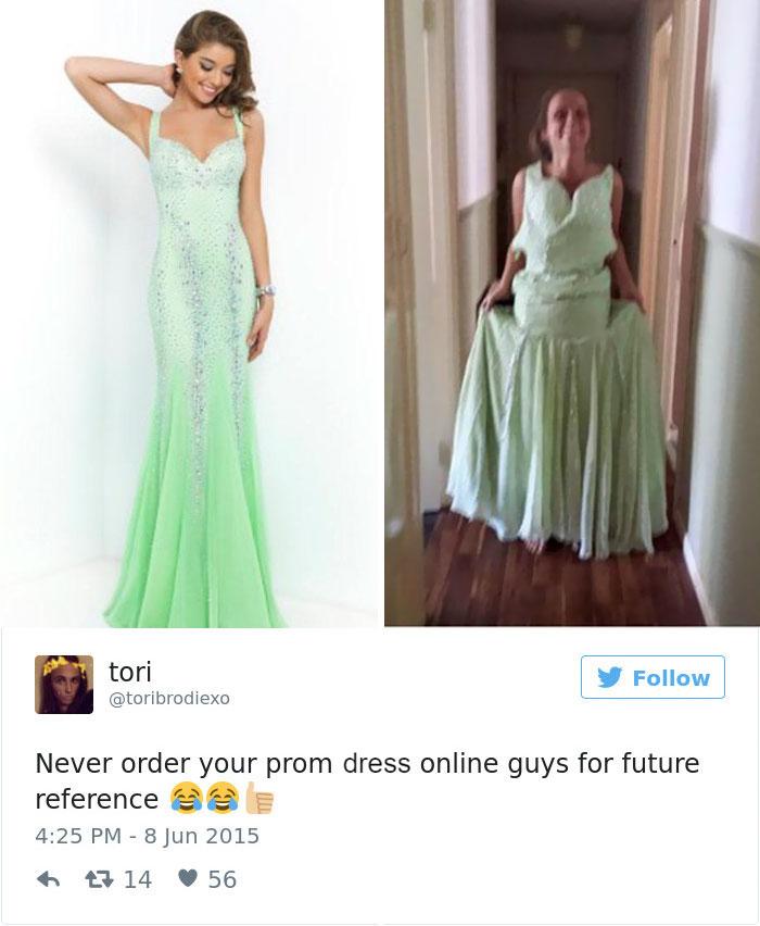 Chtěli šaty na maturitní ples, objednali přes e-shop a dopadlo to takhle...