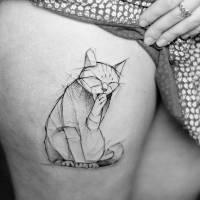 Chcete vidět nejlepší kočičí tetování? Inspirujte se