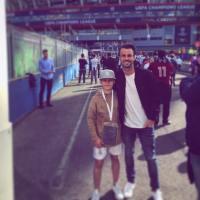 Leoš Mareš a Alena Šeredová vzali děti na finále Ligy, každý fandil někomu jinému