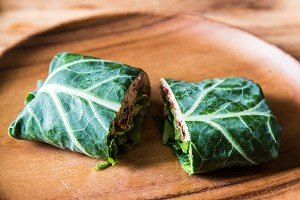 Raw Vegan Collard Wrap