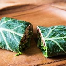 Raw Vegan Collard Wrap
