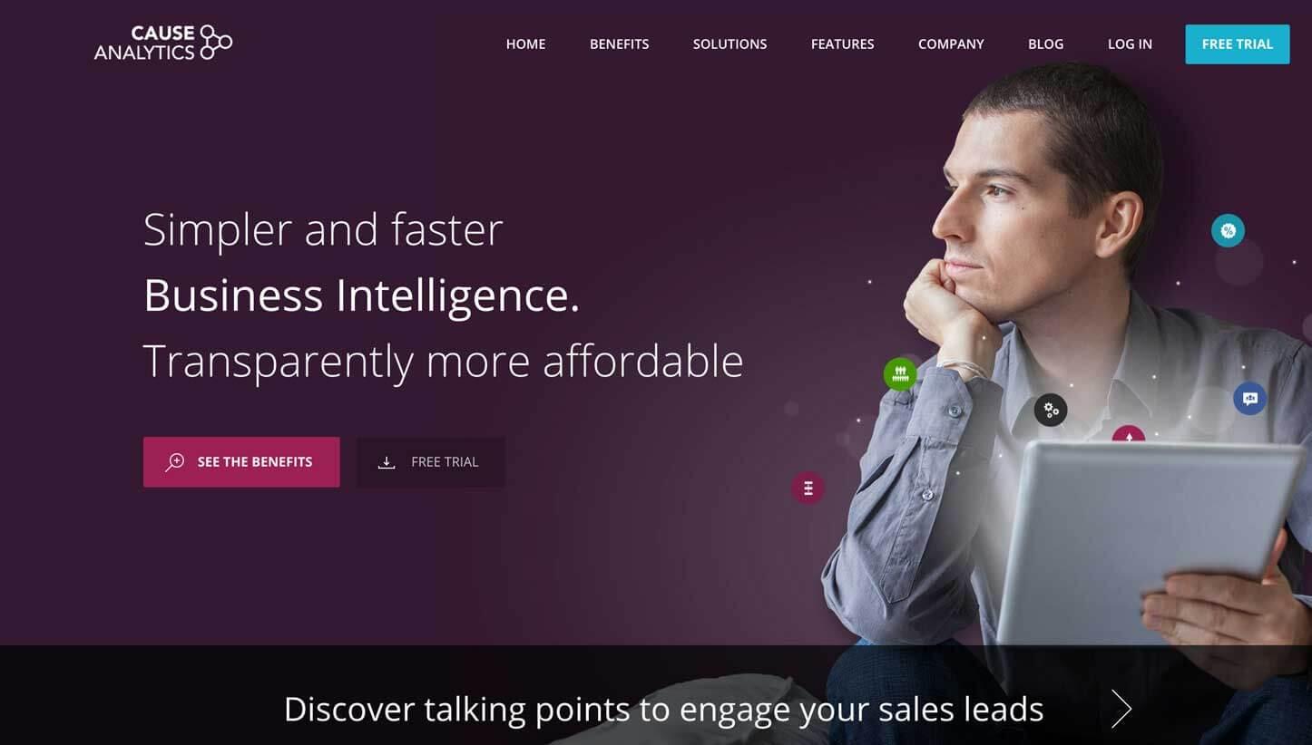 supro proyectos cause analytics sitio web captura de pantalla 1