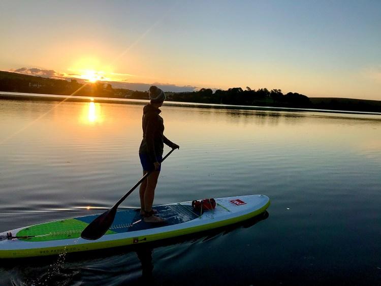 Sunrise paddle board on the Salcombe estuary.