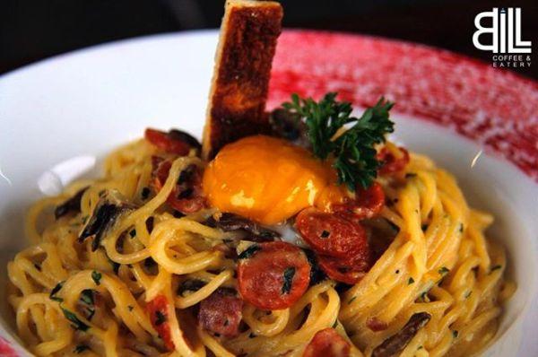 Bill Coffee Spaghetti Carbonara with Egg