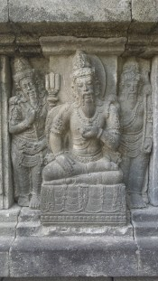 Sages' motif on Brahma temple