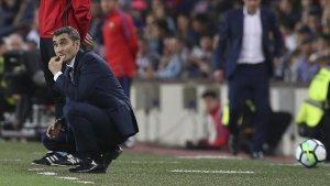 El entrenador del Barcelona, Ernesto Valverde