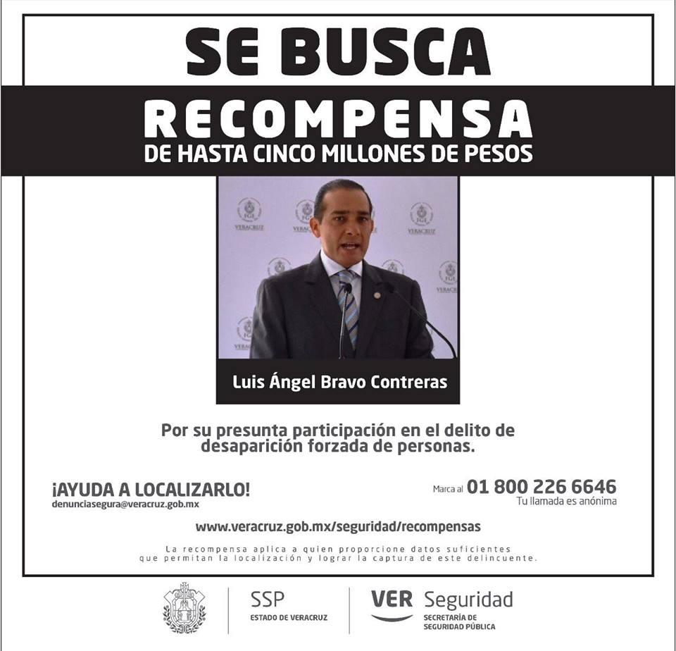 Obtienen orden de aprehensión contra exfiscal de Veracruz; ofrecen 5mdp