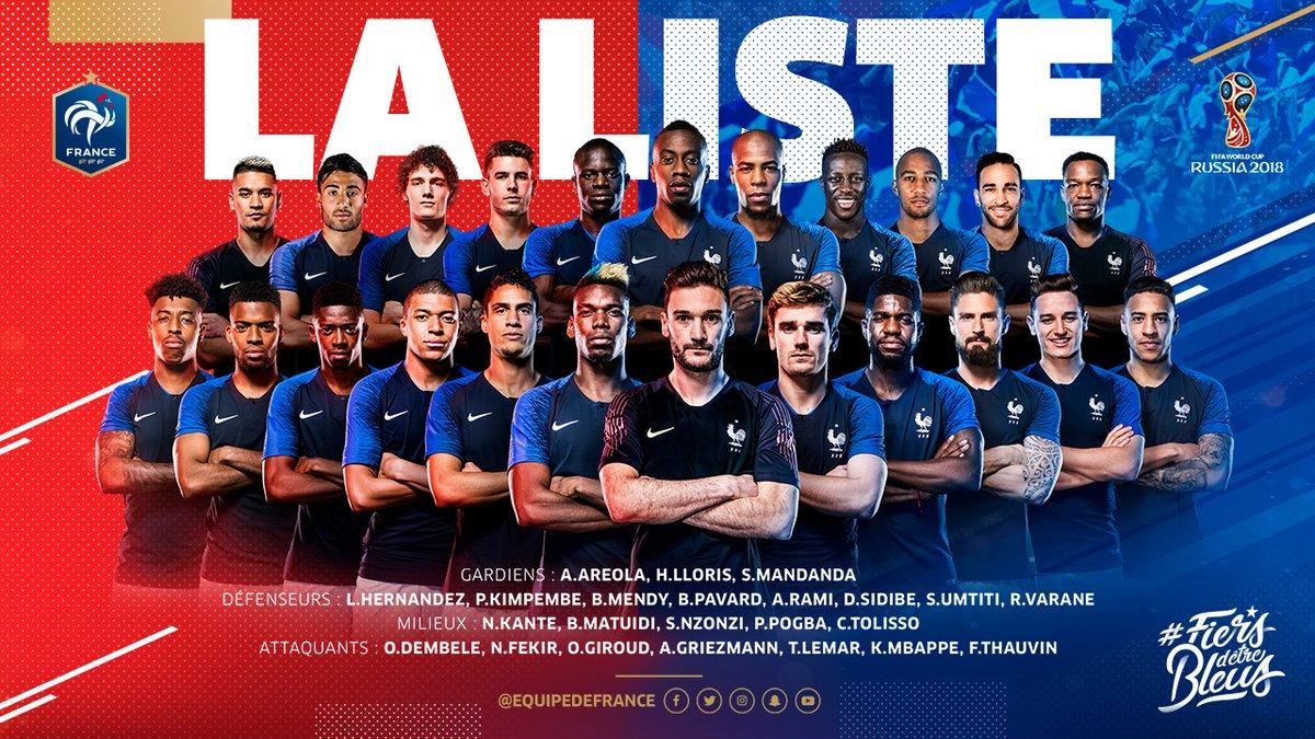 Seleccion de Francia, Twitter,170518