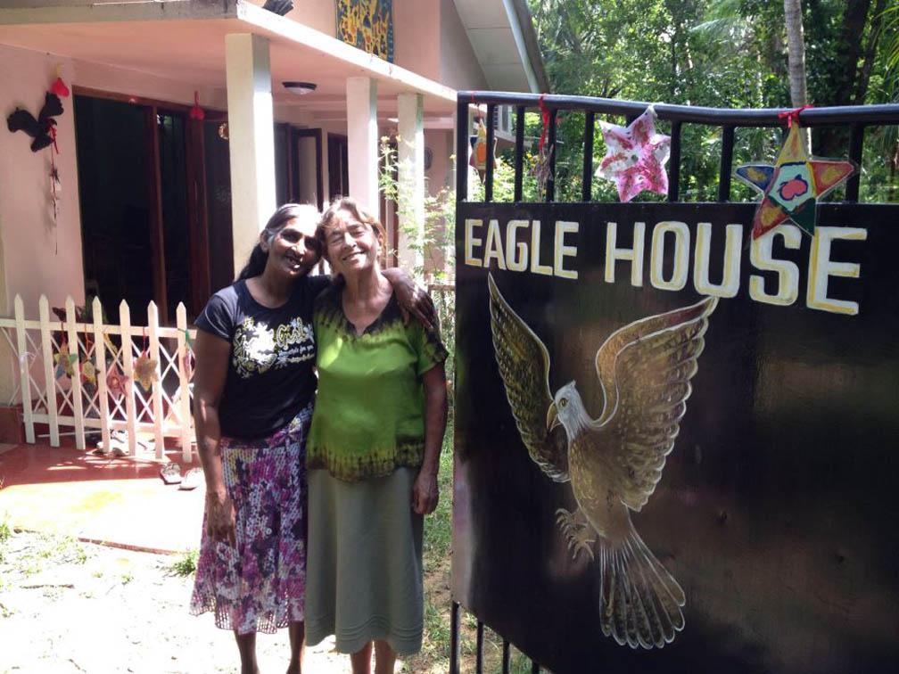 Eddi and Mangalika at Eagle House