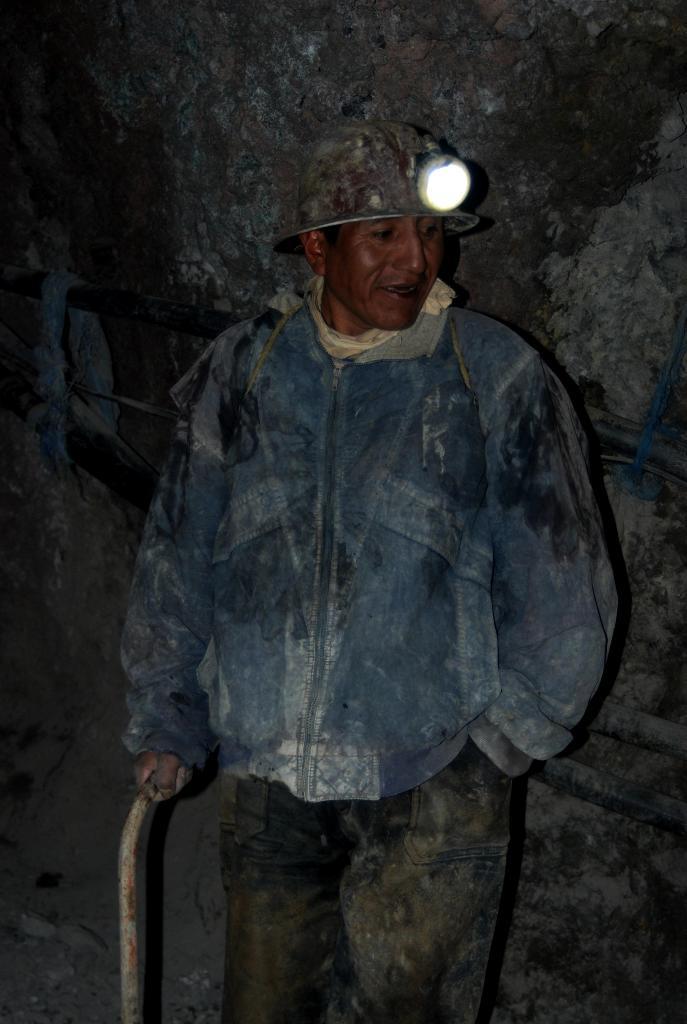 Minero, hombre valiente