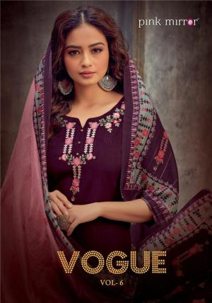 PINK MIRROR VOGUE VOL 6 TOP WITH BOTTOM AND DUPATTA