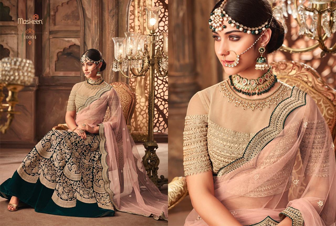006b52bcd5 maisha maskeen pressent 10001 to 10005 series bridal designer lehenga choli  wholesaler