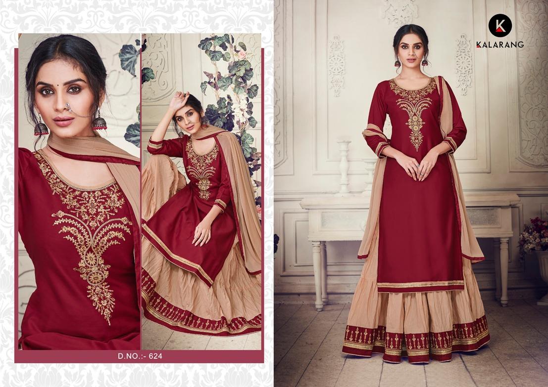 0872b8b0af Kalarang blossom vol 4pure jam silk sharara salwar kameez collection. DOWNLOAD  ZIP · DOWNLOAD PDF