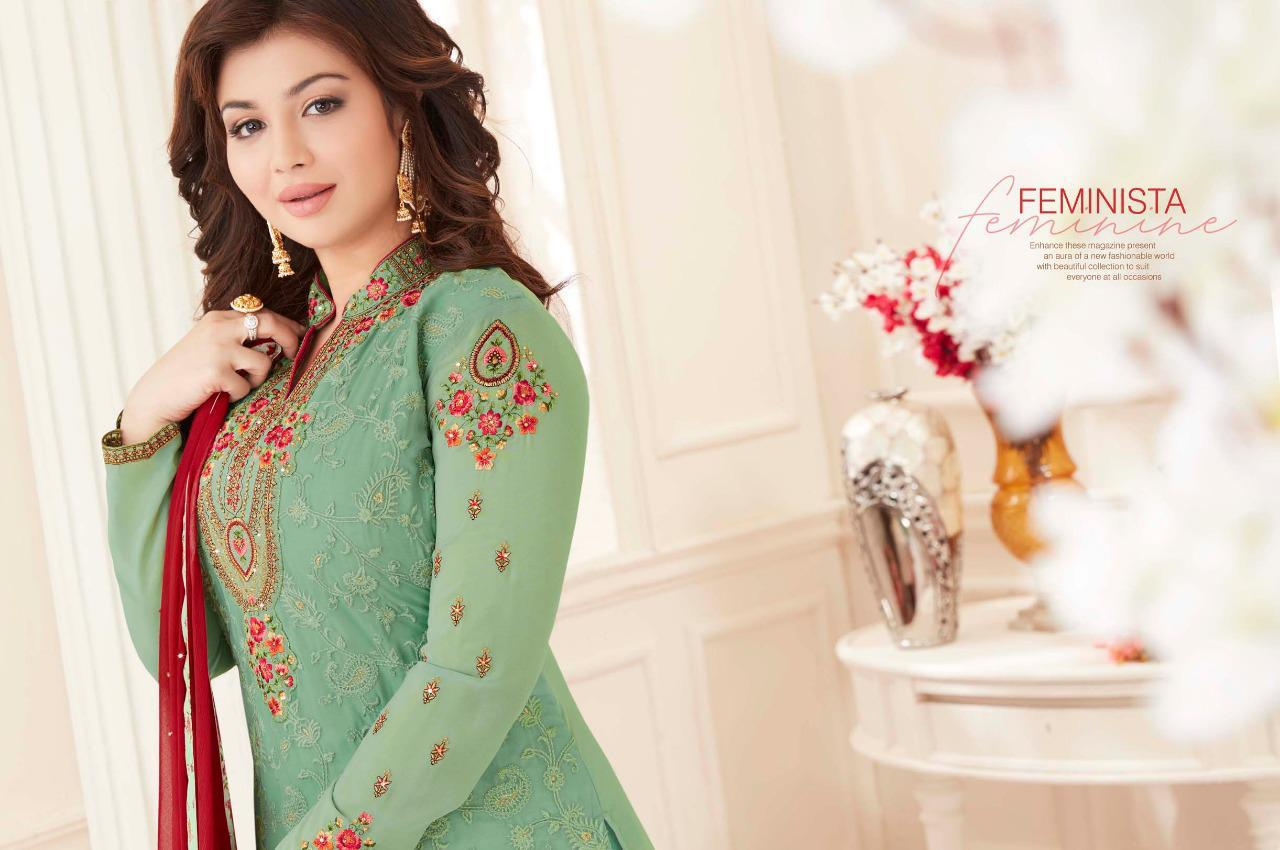00be795dfe Lavina presents lavina Vol 50 embroidered colourful straight Salwar Kameez  Collection