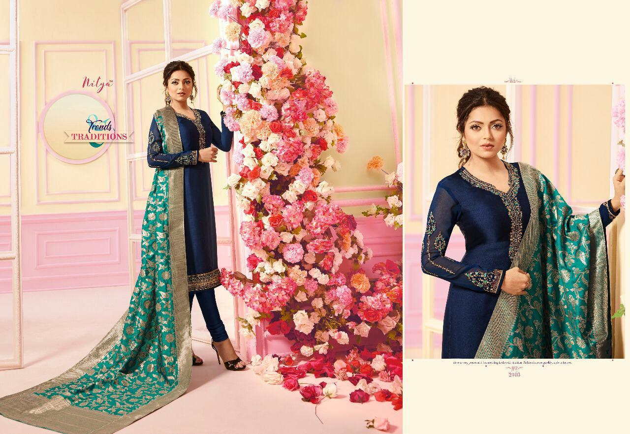 7428b513aa LT fabrics nitya vol 121 hit list beautiful traditional collection of salwar  kameez