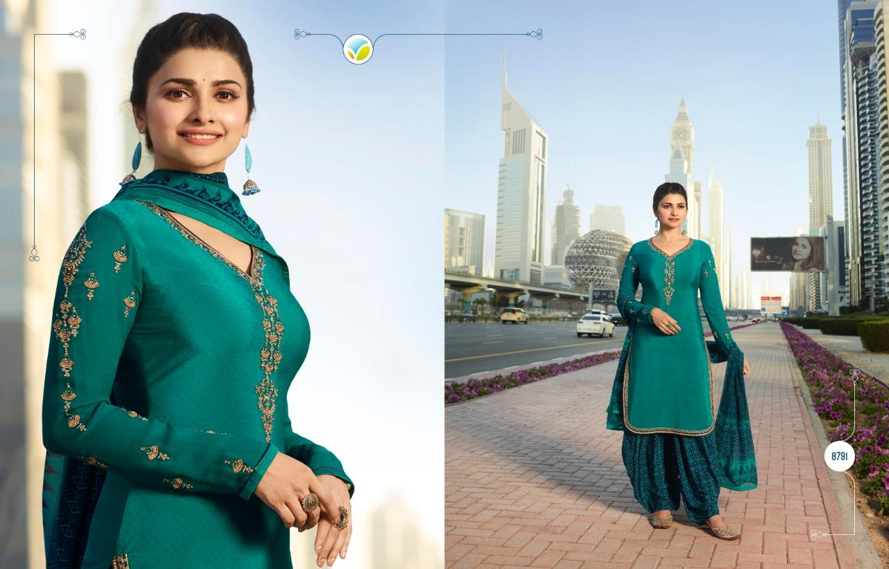 15a34b5fe7 Vinay fashion pressent silkina royal crepe-20 Bollywood Star prachi desai  Designer patiala salwar suit wholesalaer