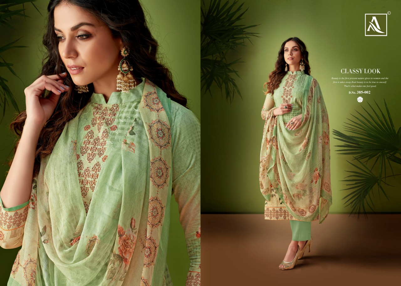 7ccd51bc6a Alok suits presents rang pure cotton aari work salwar suit Material  collection