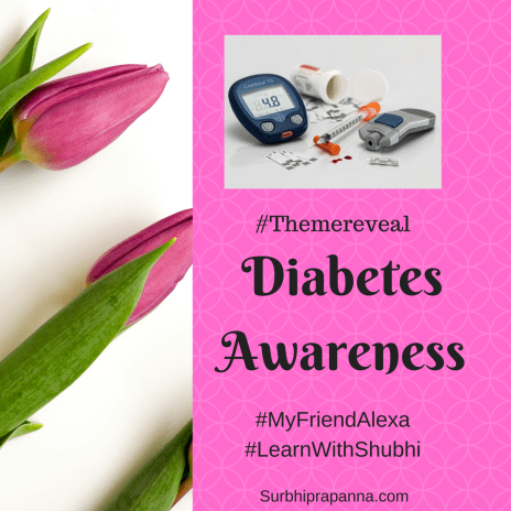 Diabetes awareness, MyfriendAlexa. themereveal