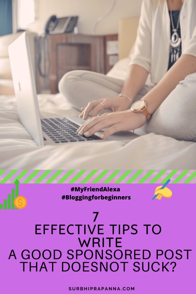 Tips to write a good sponsored post