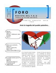 Circula la revista FORO, del FAU