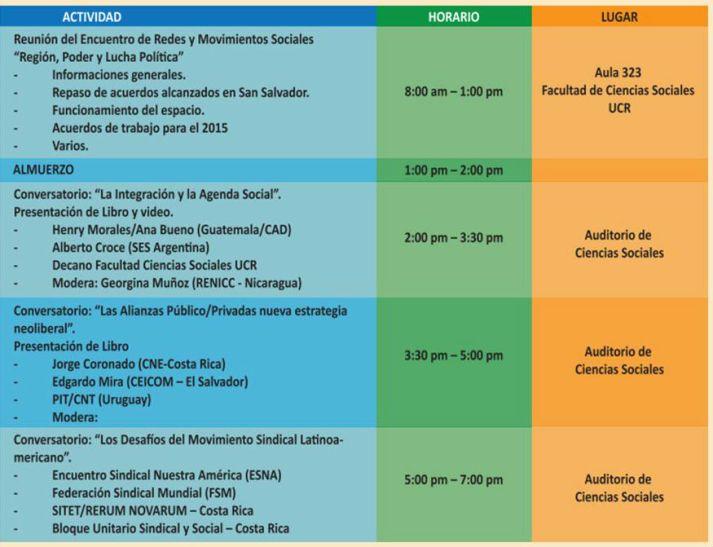 Programa 27 Enero Actividades CELAC organizan CNE UNDECA SINDEU LATINDADD CAD2