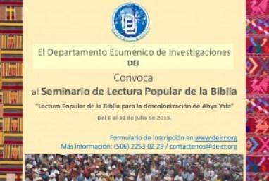 Convocatoria abierta al Seminario de Lectura Popular de la Biblia