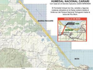 Ruta destruye hectareas de Humedal Cariari en Moin4
