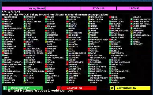 Aprobacion en Naciones Unidas tratado prohibicion de armas nucleares2