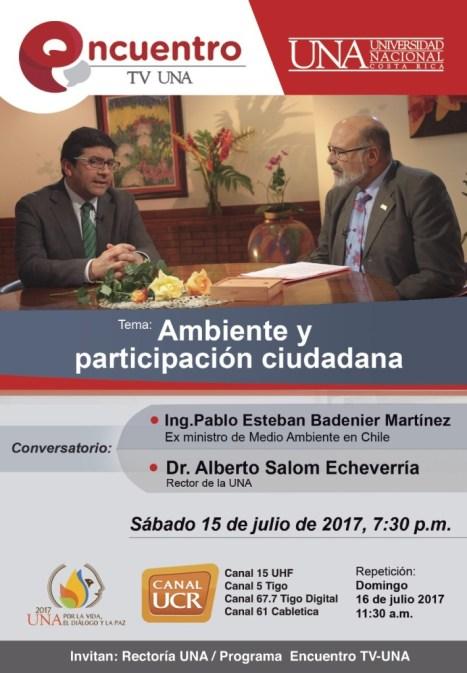Encuentro TV UNA Ambiente y participacion ciudadana