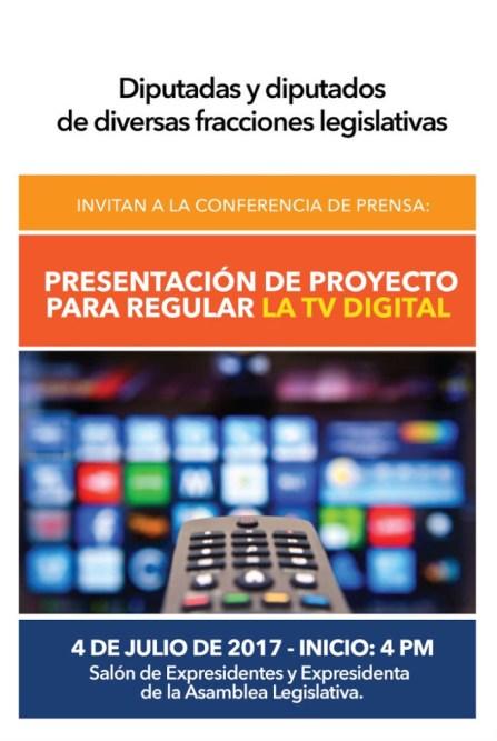 Presentacion de proyecto para regular la TV Digital