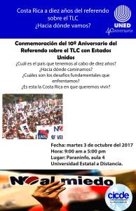 Programa de actividades conmemoración 10 aniversario referendo TLC2