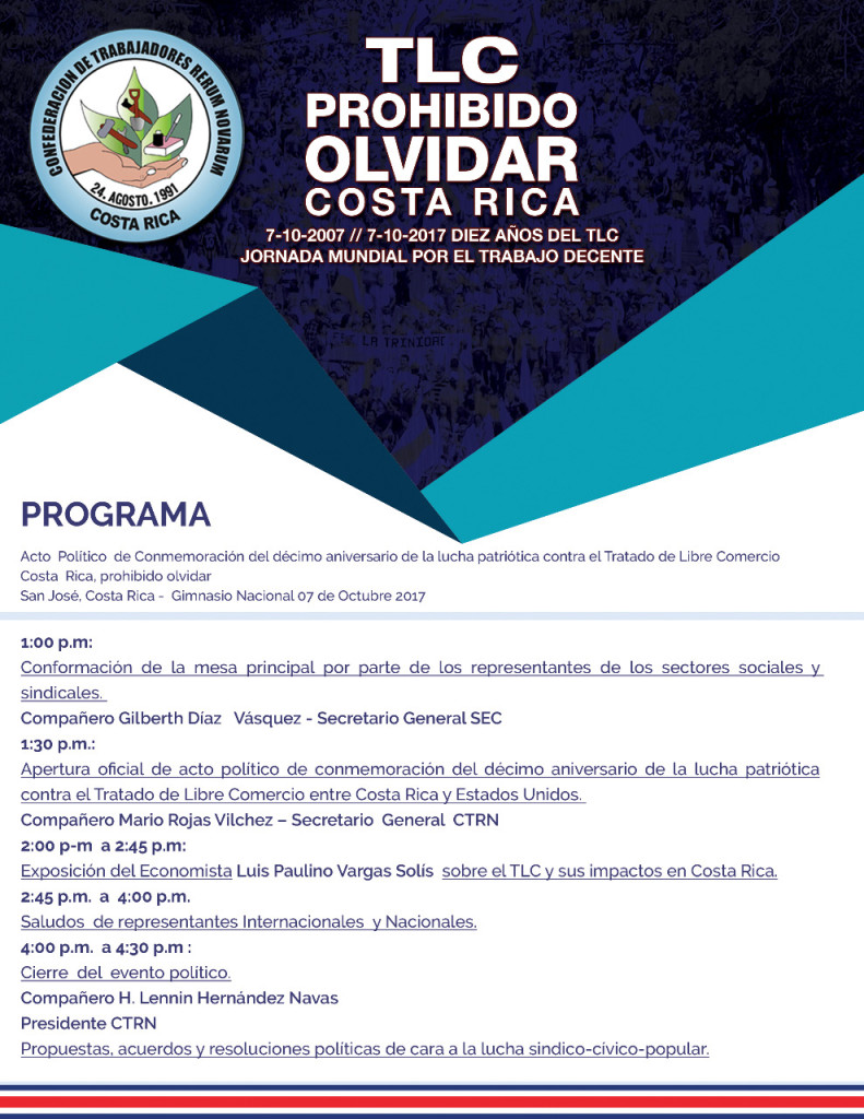 TLC prohibido olvidar Costa Rica