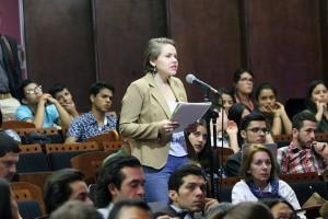 Debate Presidencial en la UNA Presidenta FEUNA