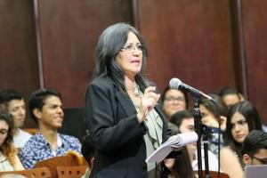 Debate presidencial en la UNA Msc Nelly Lopez Alfaro