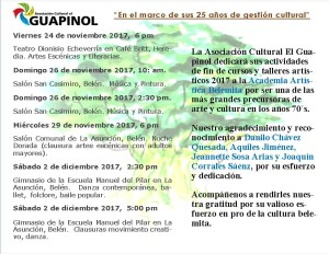 Asociacion Cultural El Guapinol dedica actividades de fin de curso a Academia Artistica Belemita