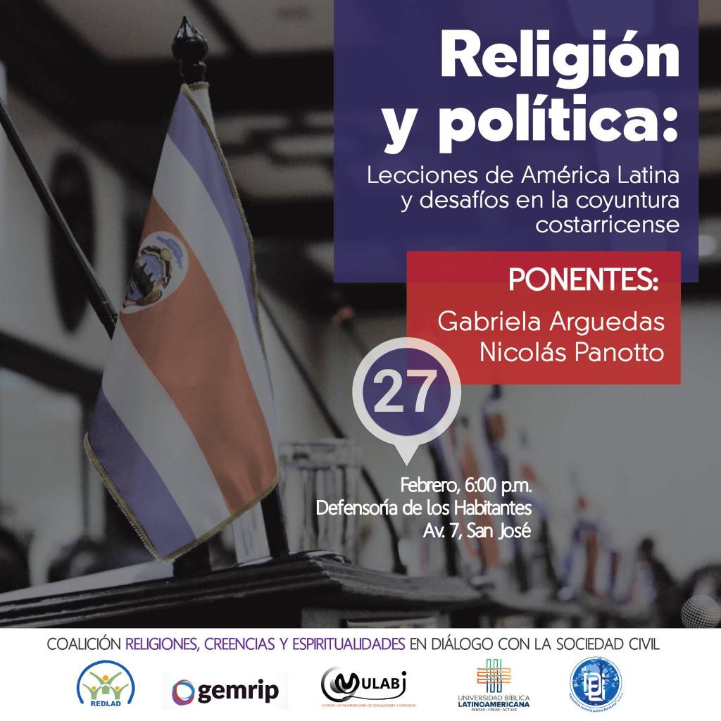 Conversatorio Religion y politica lecciones de America Latina y desafios en la coyuntura costarricense